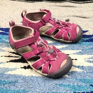 Keen Seacamp Girls Pink Outdoor Sandal Shoes Sz. 1